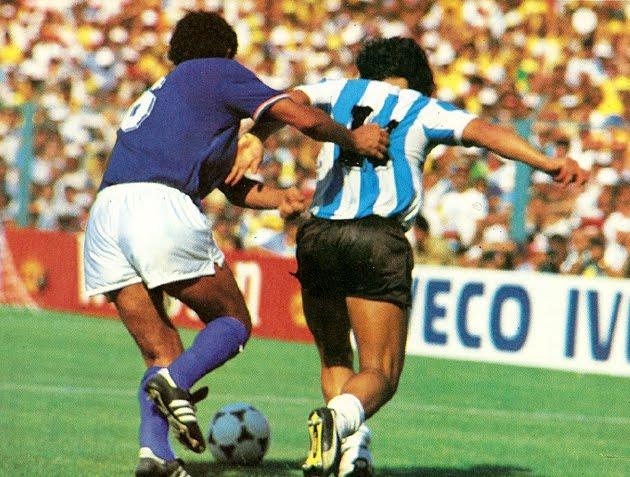 Gentile face à Maradona