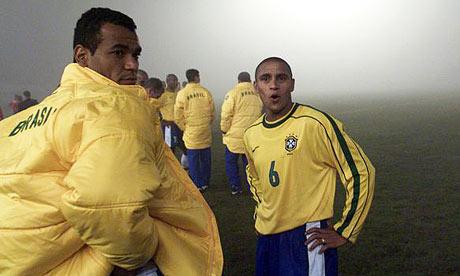 Cafu et Roberto Carlos