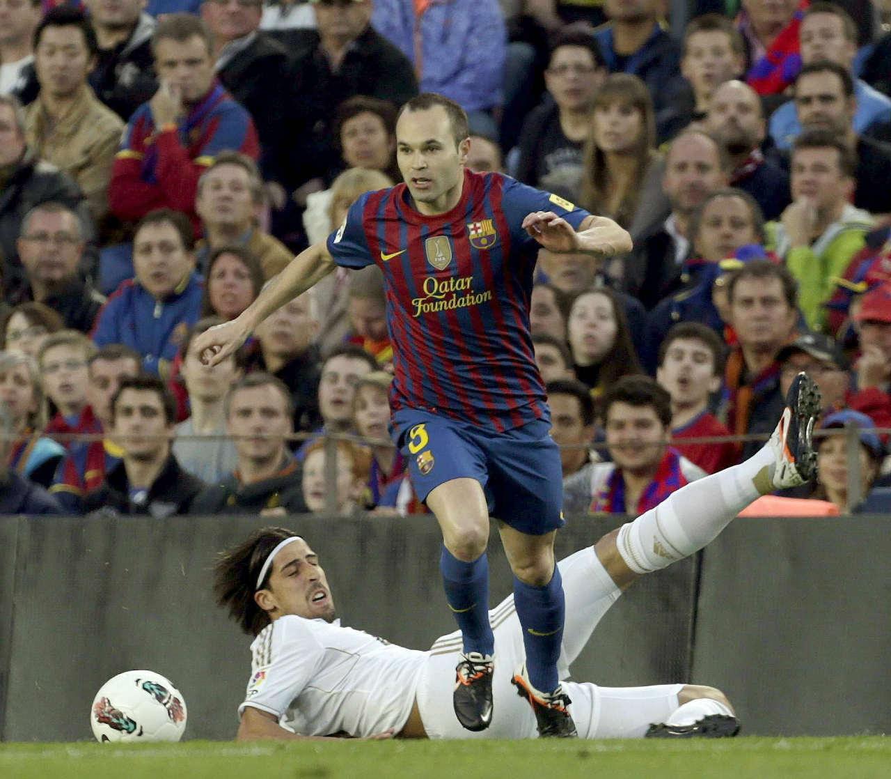 Iniesta après avoir joué avec l'un des tout meilleurs milieux défensifs au monde